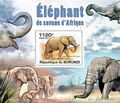 Burundi 2011 Elephants of the African Savanna SSd.jpg