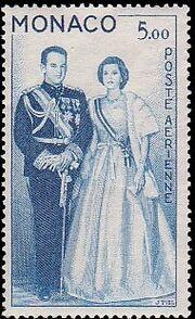 Monaco 1959 Air Post-Prince Rainier III and Princess Grace b