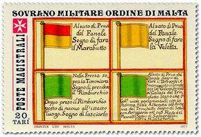 Sovereign Military Order of Malta 1977 Antiche Segnalazioni Delle Marinerie Dell'Ordine c