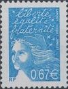 France 2002 Definitive Issue - Marianne de Luquet k