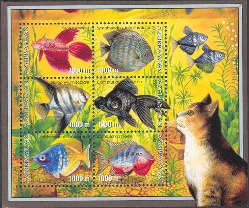 Azerbaijan 2002 Aquarian Fishes g