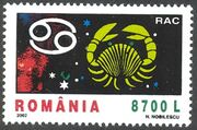 Romania 2002 The Signs of the Zodiac d