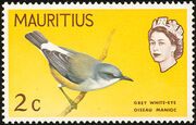 Mauritius 1965 Birds in Natural Colors a