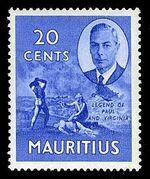Mauritius 1950 Definitives h