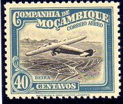 Mozambique Company 1935 Inauguration of the Airmail (2nd Issue) f