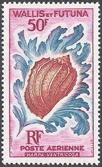 Wallis and Futuna 1963 Sea Shells a