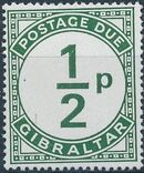 Gibraltar 1971 Postage Due Stamps a