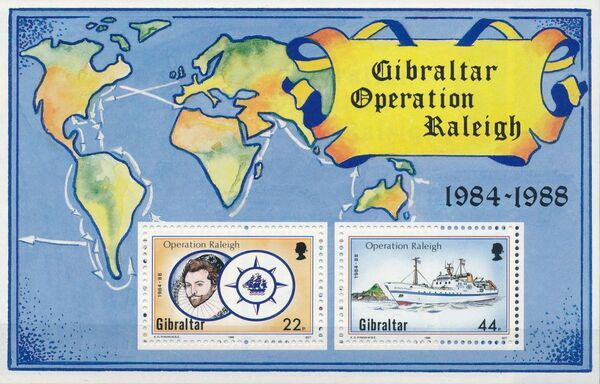 Gibraltar 1988 Operation Raleigh 1984-1988 k