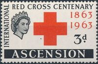 Ascension 1963 Red Cross Centenary a