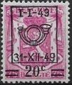 Belgium 1949 Coat of Arms, Precanceled and Surcharged e.jpg