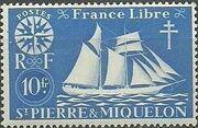 St Pierre et Miquelon 1942 Fishing Schooner St. Malo m