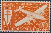 St Pierre et Miquelon 1942 France Libre (Air Post Stamps) a