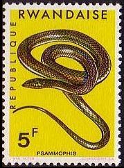 Rwanda 1967 Snakes f
