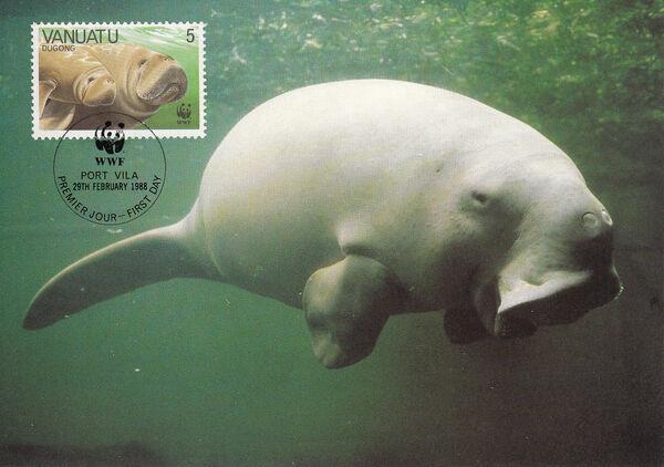 Vanuatu 1988 WWF Dugong k