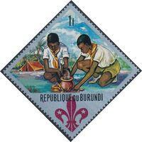 Burundi 1967 60th Anniversary of the Boy Scouts and the 12th Boy Scout World Jamboree b