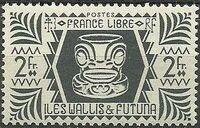 Wallis and Futuna 1944 Ivi Poo Bone Carving in Tiki Design i