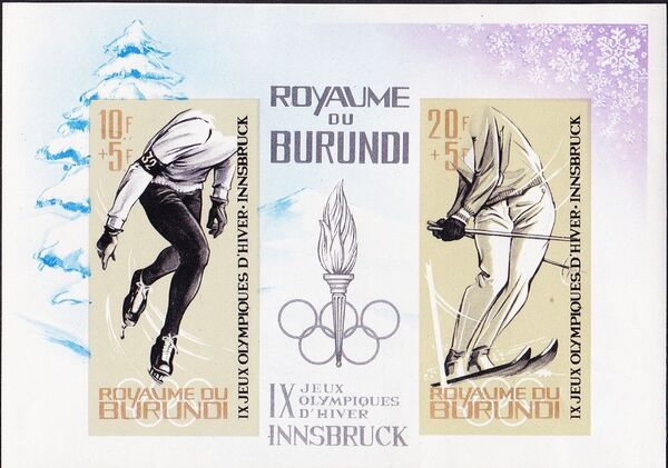Burundi 1964 9th Winter Olympic Games, Innsbruck h