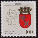 Germany, Federal Republic 1992 Coat of Arms of the Federal States of Germany (1st Group) e