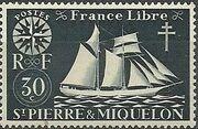 St Pierre et Miquelon 1942 Fishing Schooner St. Malo d