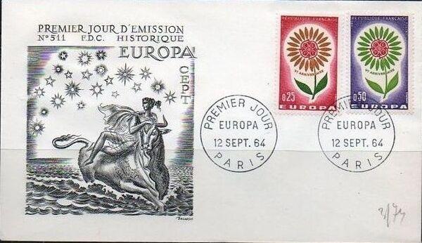 France 1964 Europa c