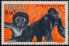 Rwanda 1983 Mountain Gorilla c