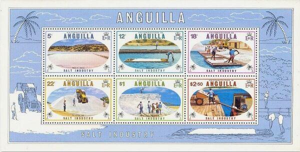 Anguilla 1980 Salt Industry h