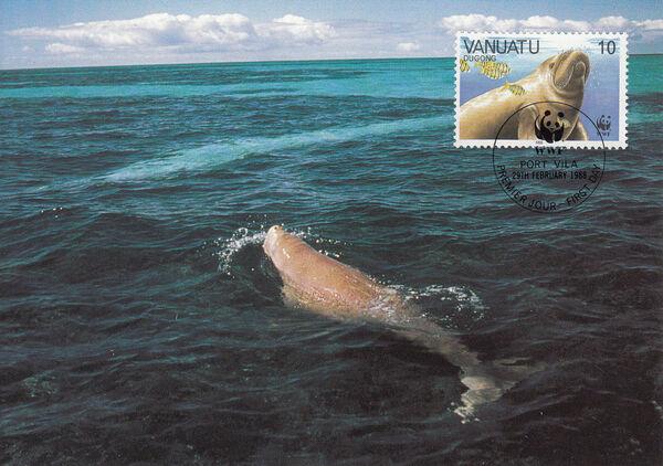 Vanuatu 1988 WWF Dugong l
