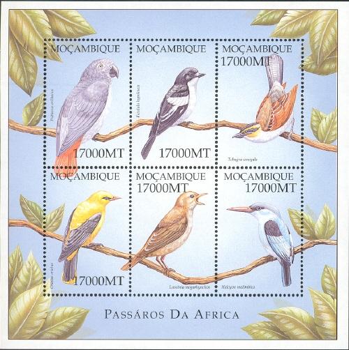 Mozambique 2002 Birds of Africa x