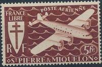 St Pierre et Miquelon 1942 France Libre (Air Post Stamps) c