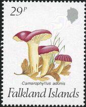 Falkland Islands 1987 Mushrooms c