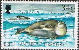 British Antarctic Territory 1992 WWF Seals and Penguins e