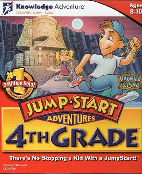 JumpStart Adventures 4th Grade 1996 Game Cover
