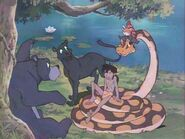 Mowgli, Kaa, Kichi, Baloo and Bagheera