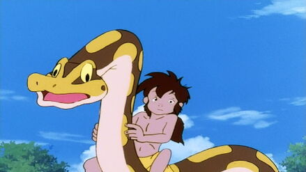 Mowgli and Kaa (Jungle Book Shōnen Mowgli)