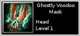 Ghostly Voodoo Mask quik short
