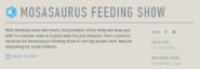 Mosasaurus Feeding Show information