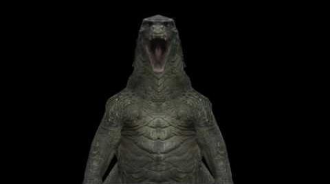 Godzilla stomps on Compys