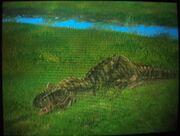 Tyrannosaurus Rex sleeping