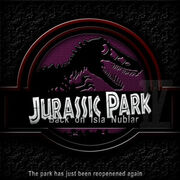 Jurassic Park IV logo Poster by marty mclfy