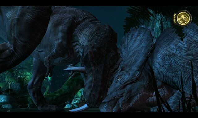File:562660-jurassic-park-the-game-windows-screenshot-t-rex-vs-alpha-triceratop.jpg