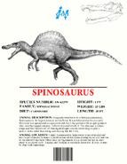 Ingen Dinosaur Info Sheets Spinosaurus