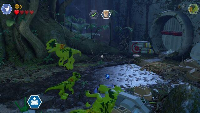 File:LEGO Jurassic World JP1 Playable Dilophosaurus and Smaller Enemy Dilophosaur MlWA77xcyJA1fxVC6k.jpg