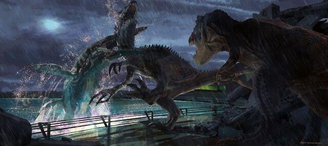 File:JurassicWorld MosasaurusEatsIndominusRex.jpg