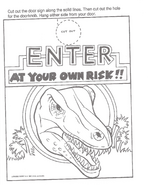 Jurassic Park A Big Color and Activity Book Door Hanger