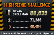 High Score Challenge over