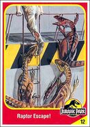 Electronic velociraptor collector card