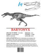 Ingen Dinosaur Info Sheets Baryonyx