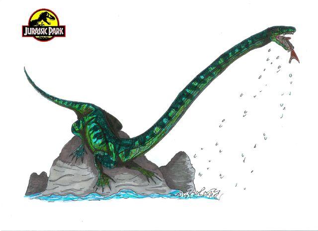 File:Jurassic Park Tanystropheus by hellraptor.jpg