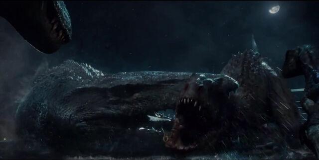 File:Jurassic world death of the abomination by tyrannuss555-d8x8nk4.jpg