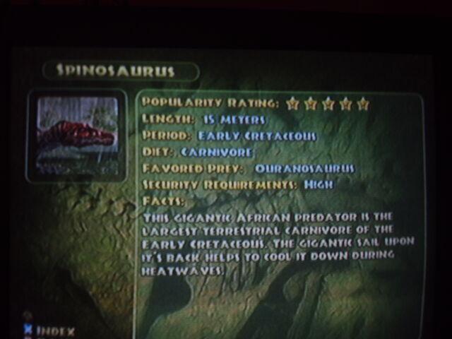File:Spinosaurus' info from JPOG.JPG